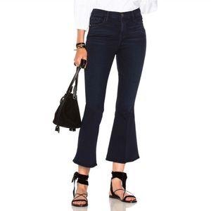 Frame Le Crop Bell High Rise Dark Wash Jeans